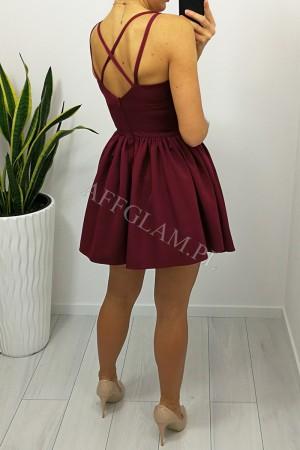 Sukienka na ramiączkach kelly bordowa