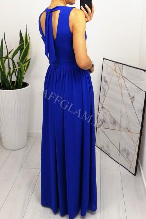 Sukienka długa szyfonowa chloe chabrowa