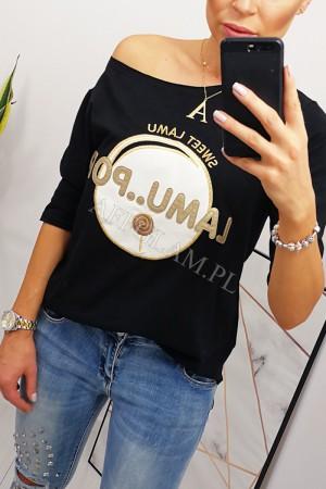 Bluzka t-shirt lamu pop czarna