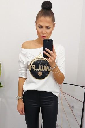 Bluzka t-shirt lamu pop biała