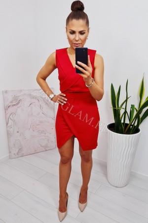 Sukienka wiązana w talii ariana czerwona