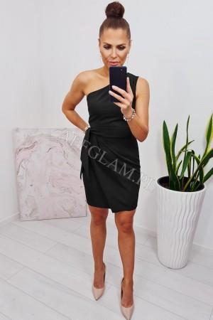 Sukienka dopasowana na jedno ramię carmen czarna